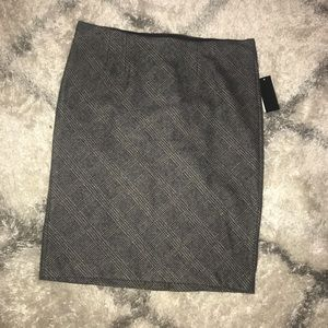 NWT Premise Studio Black Plaid Pencil Skirt